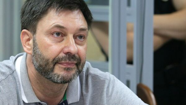 Заседание суда по делу журналиста К. Вышинского в Киеве - Sputnik Таджикистан