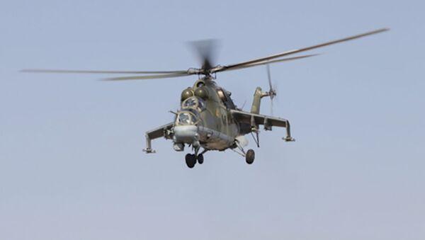 Ударные вертолеты Ми-24 201 военной базы - Sputnik Таджикистан