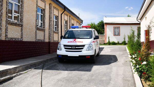 Скорая помощь у медицинского центра сельского джаомата Пушинг - Sputnik Таджикистан