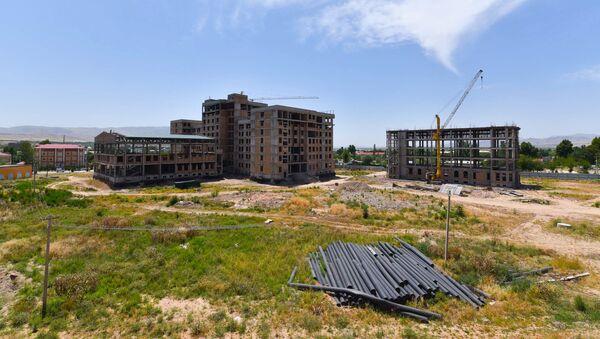 Строительство медицинского университета Хатлона в Дангаре - Sputnik Таджикистан
