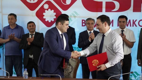 Подписание договоров на Согд-2019 - Sputnik Таджикистан