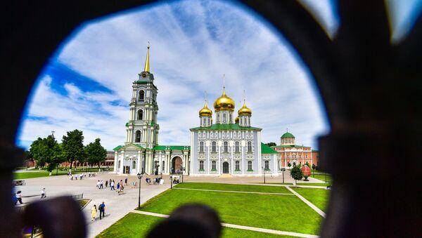 Успенский собор на территории Тульского кремля - Sputnik Таджикистан