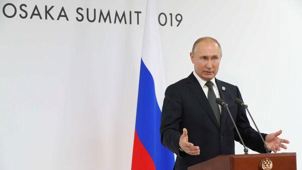 Рабочий визит президента РФ В. Путина в Японию для участия в саммите Группы двадцати. День второй - Sputnik Таджикистан