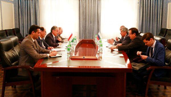 Встреча Министра иностранных дел Таджикистана со Специальным представителем Президента России по Афганистану - Sputnik Тоҷикистон