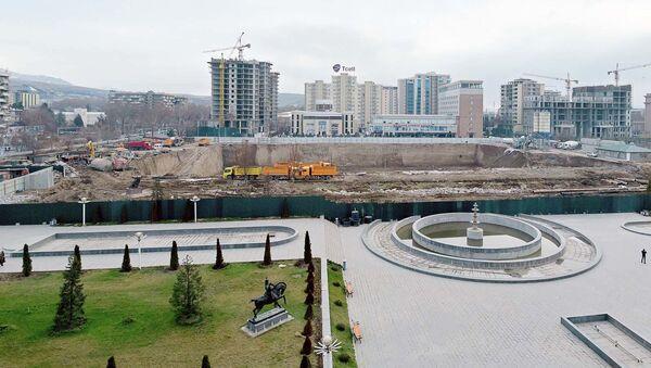 Место строительства Национального театра РТ. Архивное фото - Sputnik Таджикистан