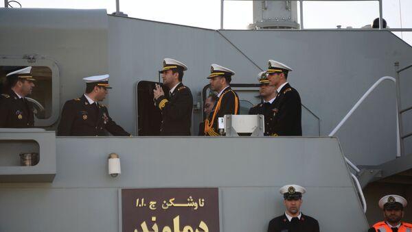 Прибытие отряда кораблей Военно-морских сил Ирана в порт Махачкалы - Sputnik Таджикистан