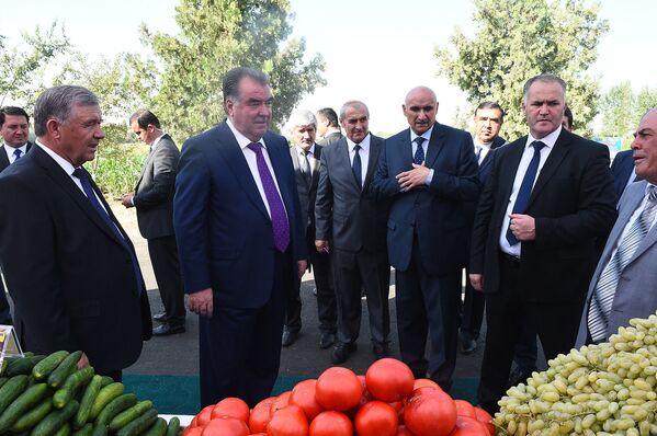 Президент Таджикистана Эмомали Рахмон посетил аграрную выставку Вахдата - Sputnik Таджикистан