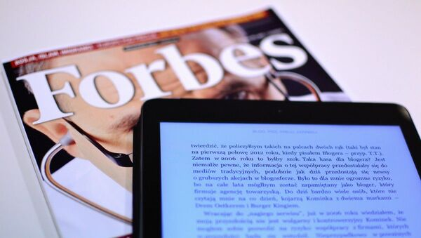 Обложка журнала Forbes - Sputnik Тоҷикистон