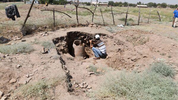Новые раскопки и находки недалеко от городища Хулбук - Sputnik Таджикистан