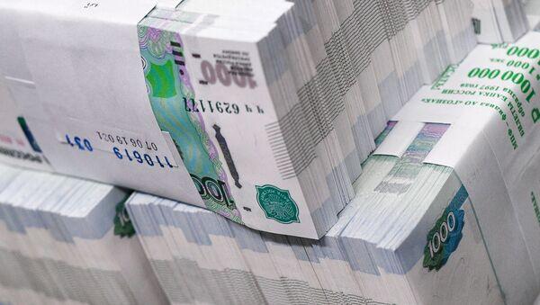 Пачки с банкнотами номиналом одна тысяча рублей - Sputnik Таджикистан