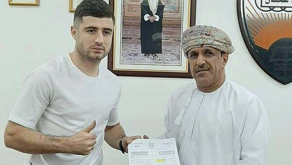 Нурридин Давронов таджикский футболист подписал контракт с оманским футбольным клубом - Sputnik Тоҷикистон