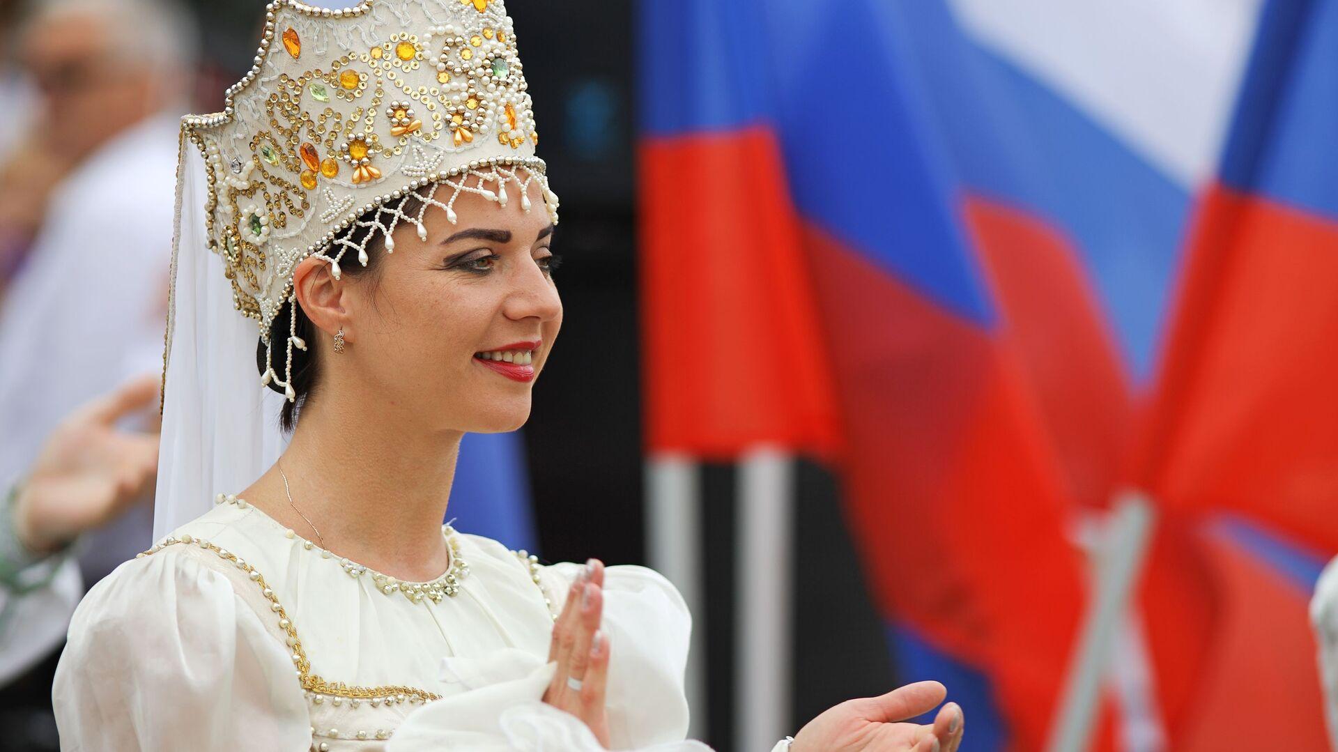 Празднование Дня государственного флага России - Sputnik Таджикистан, 1920, 28.09.2021