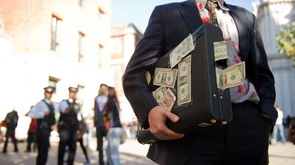 Акция протеста у Лондонской фондовой биржи - Sputnik Таджикистан