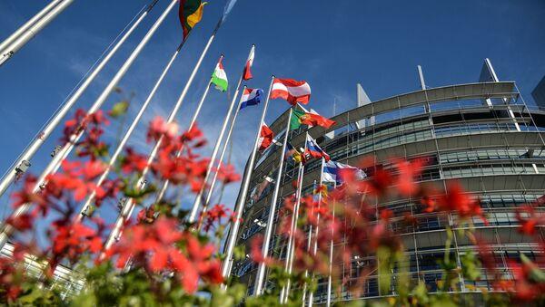Флаги возле Дворца Европы в Страсбурге - Sputnik Таджикистан