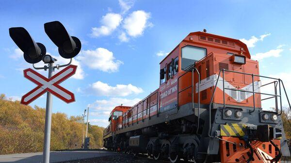 Поезд на железной дороге - Sputnik Таджикистан