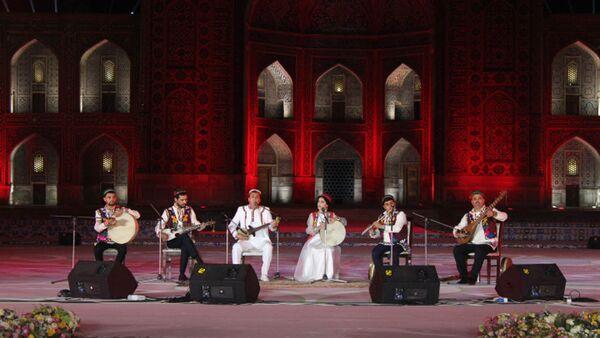 Музыкальный коллектив Бадахшан на международном фестивале Восточные напевы в Самарканде - Sputnik Таджикистан
