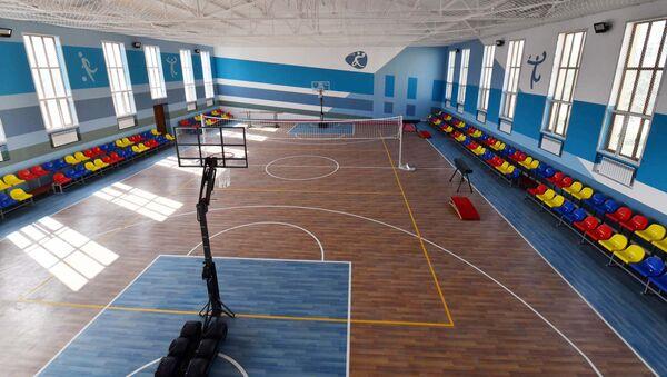 Спортзал в лицее №3 в городе Душанбе - Sputnik Тоҷикистон