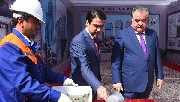 Начало строительства новой гостиницы в Душанбе GRAND RUDAKI TOWER - Sputnik Тоҷикистон