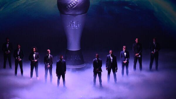 Претенденты на звание Лучшего футболиста года на церемонии вручения наград ФИФА в Италии - Sputnik Таджикистан
