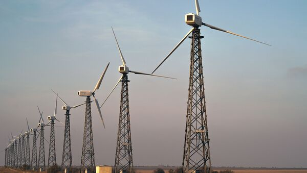 Ветряная электростанция, архивное фото - Sputnik Таджикистан