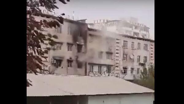 Пожар в Душанбе - Sputnik Тоҷикистон
