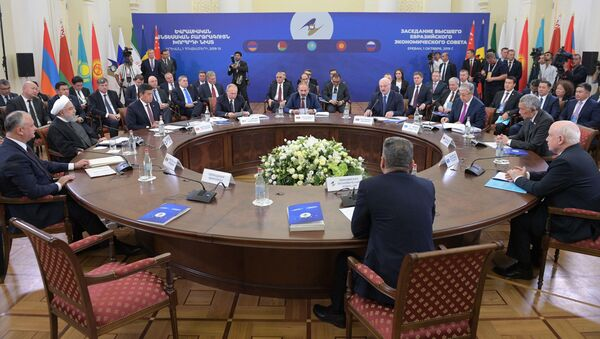 Заседании Высшего евразийского экономического совета (ВЕЭС) в широком составе в Ереване - Sputnik Таджикистан