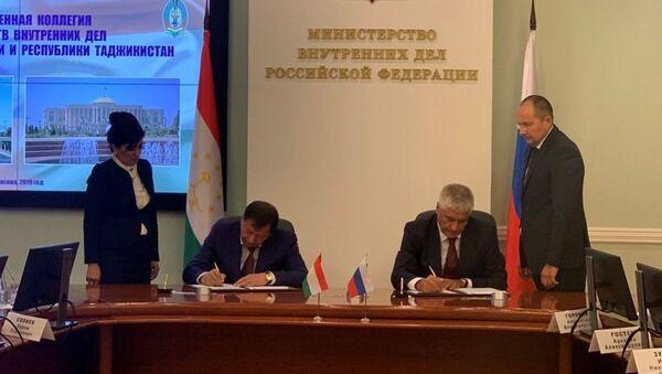 Коллегия Министерств внутренних дел Таджикистана и России - Sputnik Тоҷикистон