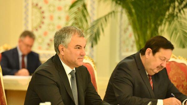 Встреча президента Таджикистана Эмомали Рахмона и председателя ГД РФ Вячеслава Володина - Sputnik Тоҷикистон