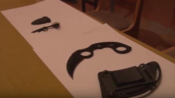 МВД Таджикистана изъяло  у молодежи 23 предмета : электрошокеры, ножи, кастеты - Sputnik Таджикистан
