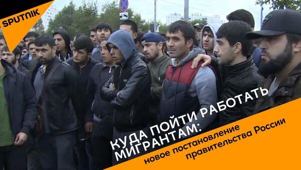 Куда пойти работать мигрантам: новое постановление правительства России - Sputnik Таджикистан