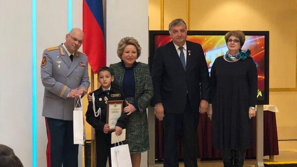 Бахтиёр Усмонов на награждении в Совете Федерации - Sputnik Тоҷикистон