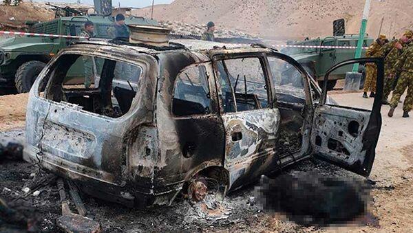 Кадры с места нападения на погранзаставу на таджикско-узбекской границе. - Sputnik Таджикистан