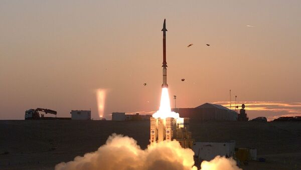 Израильский ракетный комплекс Пращ Давида - Sputnik Тоҷикистон