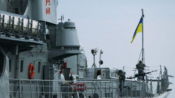 Украинский фрегат Гетман Сагайдачный в морском порту Одессы - Sputnik Таджикистан