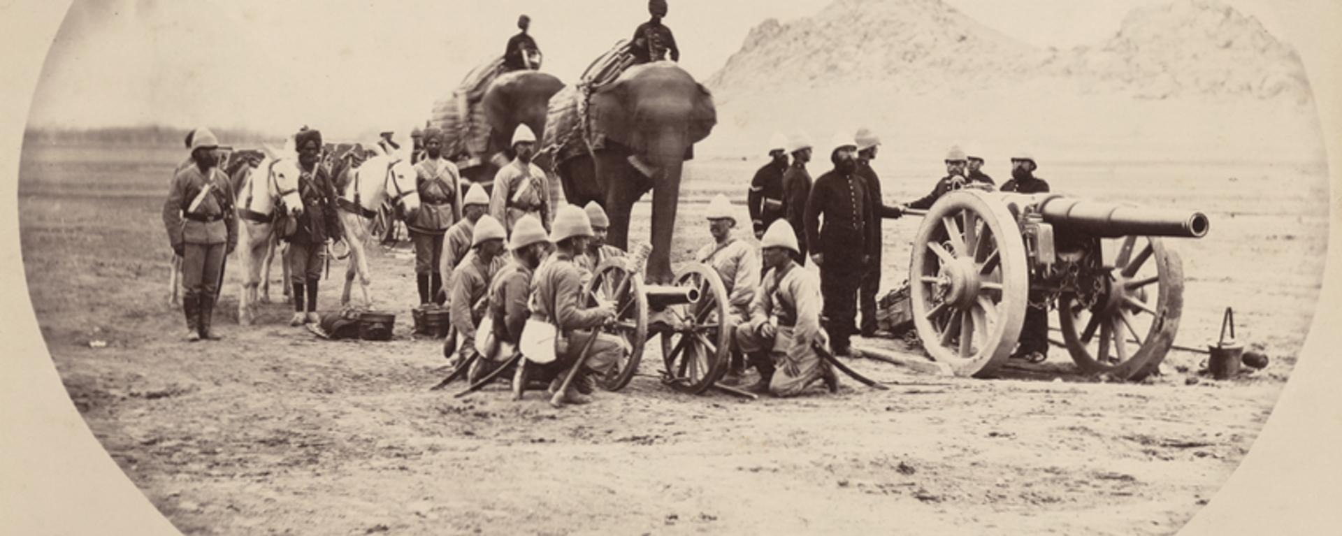 Elephant and Mule Battery, Second Anglo-Afghan War - Sputnik Таджикистан, 1920, 12.11.2019
