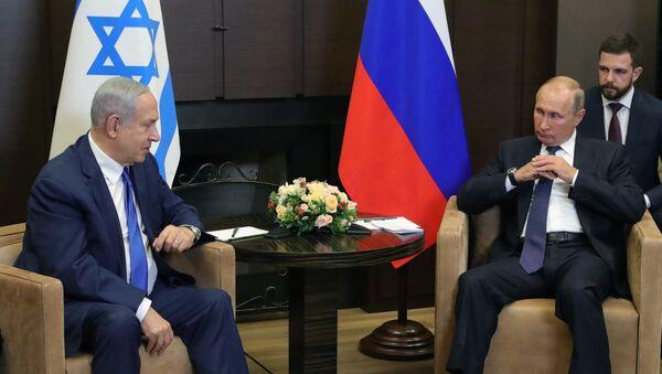 Президент РФ Владимир Путин и премьер-министр Израиля Биньямин Нетаньяху - Sputnik Таджикистан