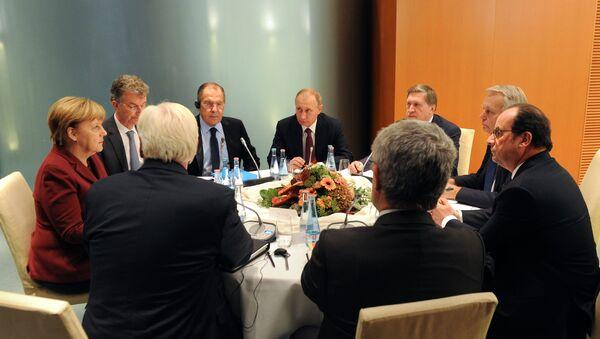 Встреча лидеров стран нормандской четверки в Берлине - Sputnik Таджикистан