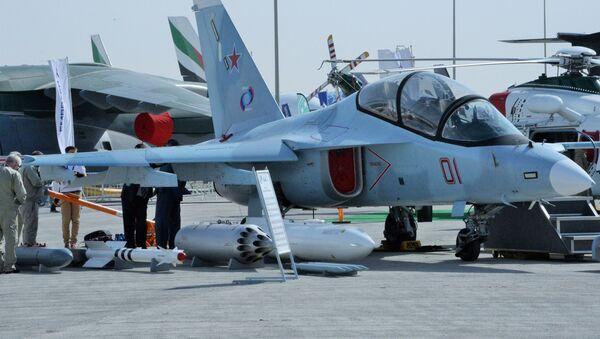 Учебно-боевой самолет Як-130 на международном авиасалоне Dubai Airshow 2019 в Дубае - Sputnik Тоҷикистон