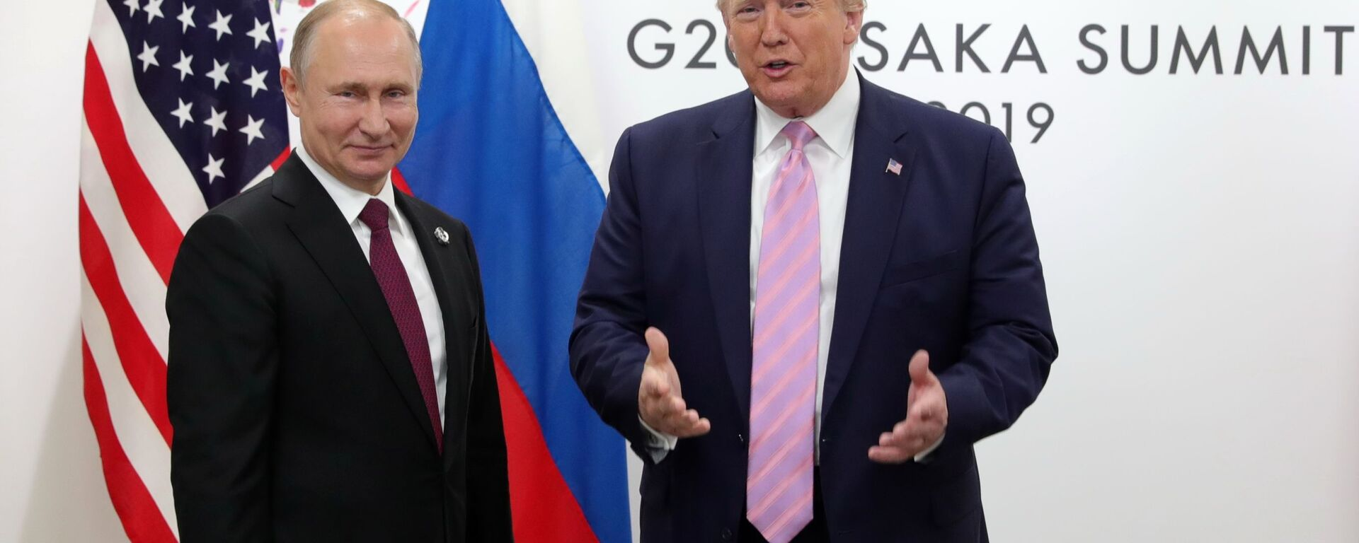 Президент РФ Владимир Путин и президент США Дональд Трамп - Sputnik Таджикистан, 1920, 29.09.2021