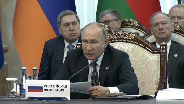 Путин принимает участие в пленарном заседании ОДКБ в Бишкеке - Sputnik Тоҷикистон