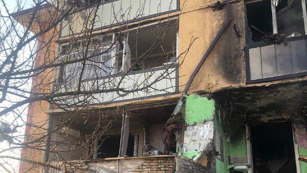 В одном из многоэтажных домов 2-го микрорайона города Андижана произошёл пожар - Sputnik Тоҷикистон