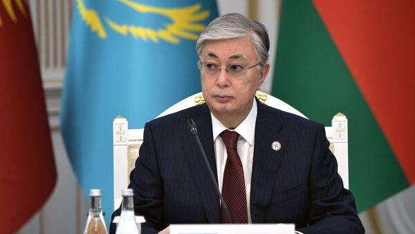 Президент Казахстана Касым-Жомарт Токаев - Sputnik Тоҷикистон