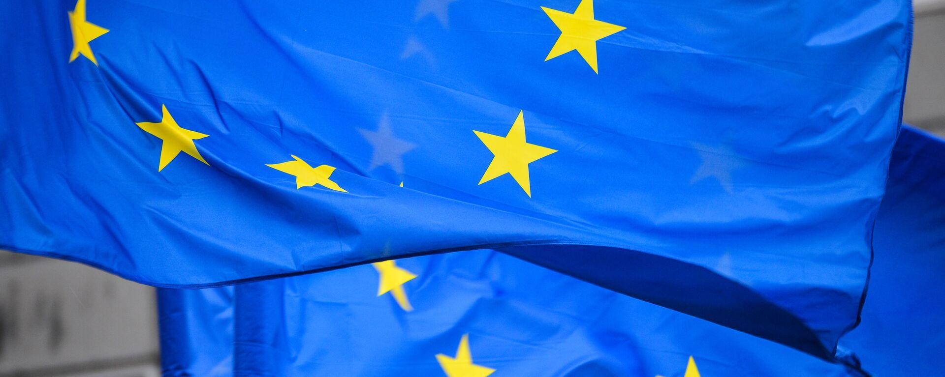 Флаги с символикой Евросоюза, архивное фото - Sputnik Таджикистан, 1920, 01.08.2021