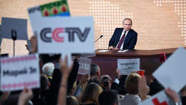 Ежегодная большая пресс-конференция президента РФ В. Путина - Sputnik Таджикистан