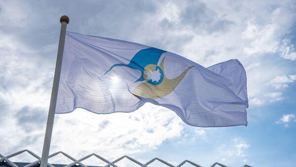 Флаг с символикой Евразийского экономического союза (ЕАЭС) - Sputnik Таджикистан