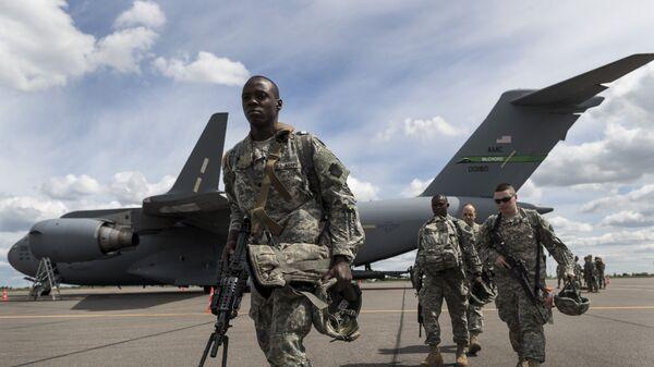 Военнослужащих американской национальной гвардии, архивное фото - Sputnik Таджикистан
