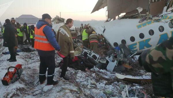 Пассажирский самолет рухнул в Алматы - Sputnik Тоҷикистон