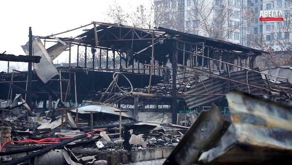 Пожар в Душанбе Сгорели несколько столовых - YouTube - Sputnik Тоҷикистон