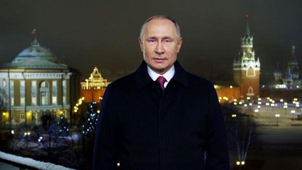 Путин поздравил россиян с Новым годом - видео - Sputnik Таджикистан