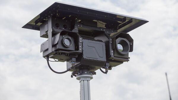 Мобильный комплекс видеонаблюдения на границе, архивное фото - Sputnik Тоҷикистон